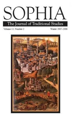 cover of Sophia, The Journal of Traditional Studies